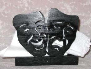 Servetthållare / brevställ Masker - Servetthållare / brevställ Masker