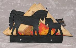 Servetthållare / brevställ Hästar - Servetthållare / brevställ Hästar