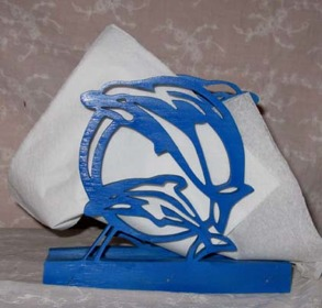 Brevställ / servetthållare Delfiner - Brevställ / servetthållare Delfiner