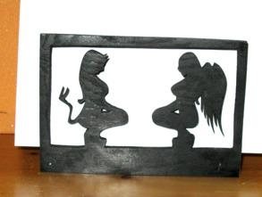 Brev / servett ställ Devil woman / angel - Brev / servett ställ Devil woman / angel