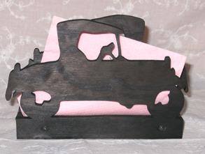 Servetthållare / brevställ Farmorsbil - Servetthållare / brevställ Farmorsbil