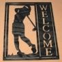 Välkomstskylt Golfare - Välkomstskylt Golfare Kvinlig