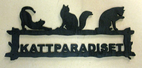 Välkomstskylt Kattparadiset - Välkomstskylt Kattparadiset