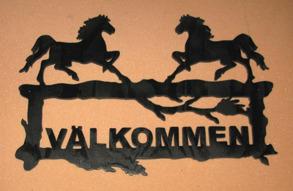 Välkomstskylt Hästar gående - Välkomstskylt Hästar gående