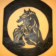 Häst i oval ram