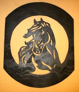 Häst i oval ram - Häst i oval ram