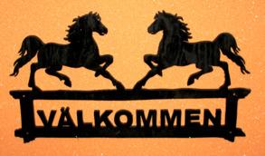 Välkomstskylt Gående Hästar - Välkomstskylt Gående Hästar