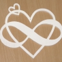 Evighetshjärta Love - Evighetshjärta Vit