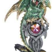 Drake med kristall grön