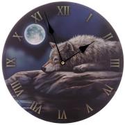 Klocka  Varg i månsken