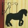 Hängare i plåt Klicka på bilden för varianter - Häst 2
