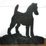 Brev / servett ställ Hund Klicka på bilden för varianter - Foxterrier