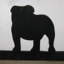 Brev / servett ställ Hund Klicka på bilden för varianter - Bulldog