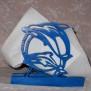 Brev / servett ställ Kuriosa klicka på bilden för fler varianter - Delfin