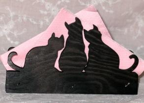 Brev / servett ställ Katter Klicka på bilden för varianter - Tre katter