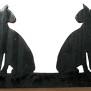 Brev / servett ställ Hund Klicka på bilden för varianter - Siameser