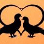 Hjärtan Klicka på bilden för varianter - Duvor i hjärta