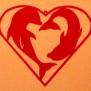 Hjärtan Klicka på bilden för varianter - Delfiner i Hjärta