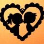 Hjärtan Klicka på bilden för varianter - Pojke flicka i hjärta