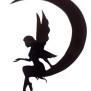 Änglar Klicka på bilden för varianter - ängel på måne 20 cm