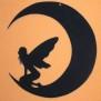 Änglar Klicka på bilden för varianter - Älva på måne svart  20 cm