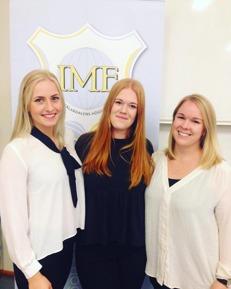 Nya medlemmar i styrelsen. Från vänster:Felicia Höjer, Pernilla Windahl& Martina Algurén