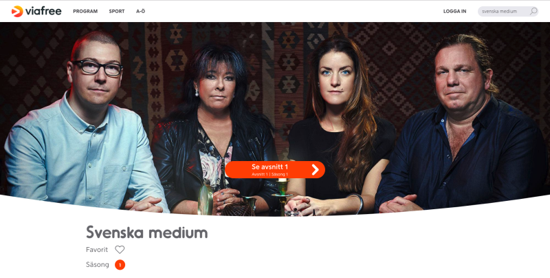 Medium Johan Poulsen, Svenska Medium TV3, Viafree & Viaplay