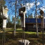 Solanderleden Norriskogens Kulturled skulpturer