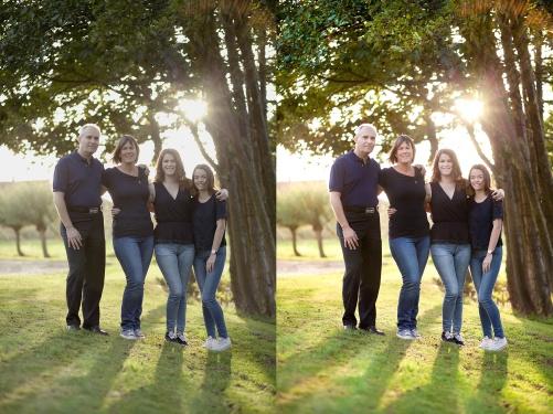 Bild direkt från kameran och den färdigredigerade bilden. Med ökad kontrast och förstärkta färger upplevs bilden starkare och mer livfull.