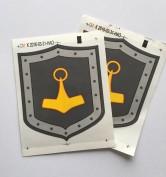 Klistermärke 2 st (70 x 55 mm)