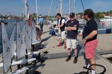 Förberedelser inför GSYS DF95 open maj 2018 på Navigationssällskapets brygga