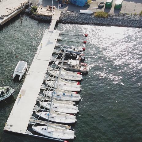 Våra J80 båtar på Beckholmen