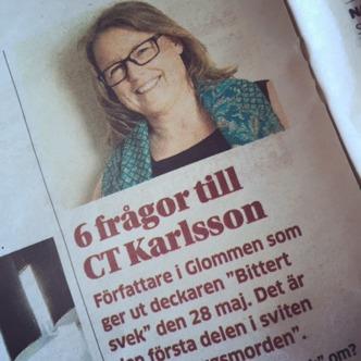 deckarförfattare C T Karlsson i Hallands Nyheter