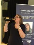 Releasefest tumme upp av kvinniga deckarförfattaren C T Karlsson