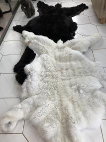 Svenska alpackaskinn - Svenska alpackaskinn,vit,svart,brun