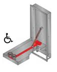 ögondusch för inbyggnad i vägg handikappanpassad