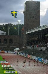 Regnigt SM i friidrott, Stockholms Stadion