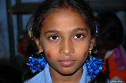 Fest på ett skolhem i Indien