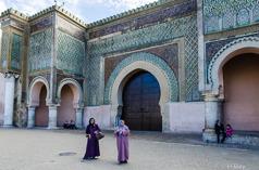 Porten Bab Mansour i Meknes