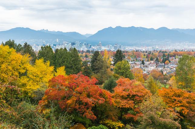 Vancouver från Queen Elizabeth Park