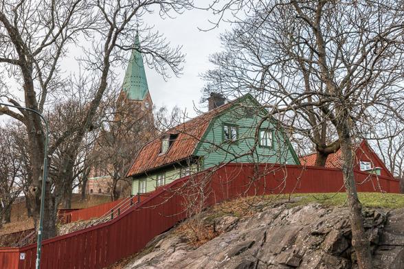 Vitabergsparken med Sofia kyrka