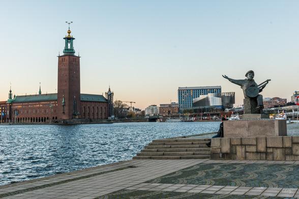 Stadshuset, Stockholm Water Front och Evert Taube