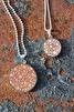 Halsband läder/silver 30mm