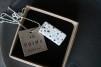 Halsband porslin/silver dots