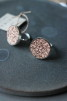Ring silver/läder 20mm Blad - M
