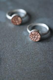 Ring läder/silver 10mm Blad - Ring läder/silver 10mm Blad