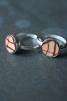 Ring silver/läder 10mm Stripe - Ring silver/läder 10mm Stripe