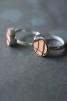 Ring silver/läder 10mm Stripe - M