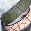 Läderarmband Stripe Mörkgrön till henne