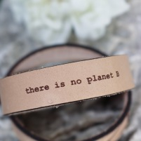 Läderarmband Planet B till henne